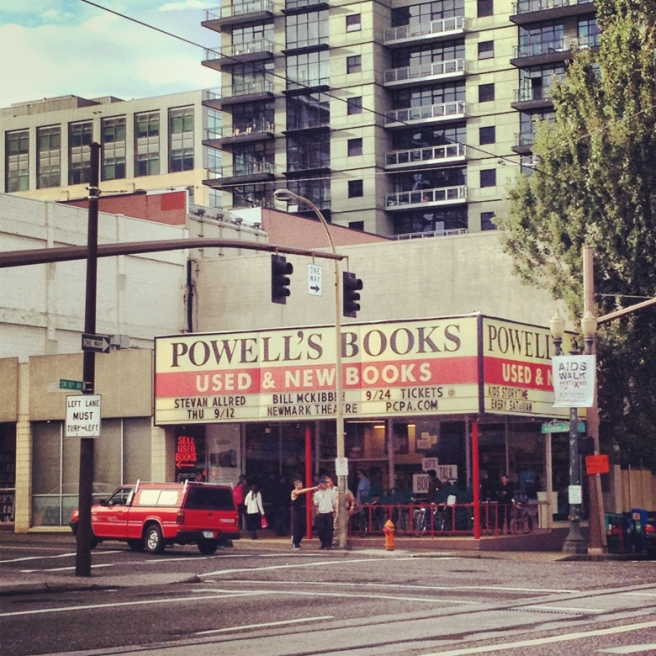 The Burnside entrance of Powell's City of Books in Portland, Oregon