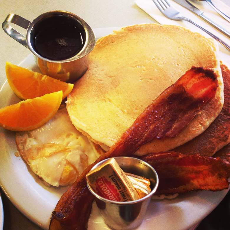 Another version of their Sunrise Special. This time with buttermilk pancakes.