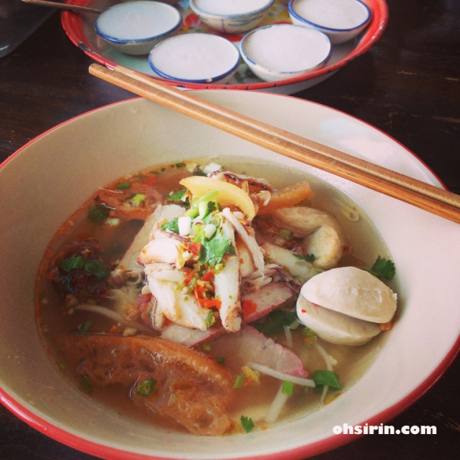 Seafood 'tom-yum' noodle is my favorite at Kiew Tiew Ton Mayom near Saplee