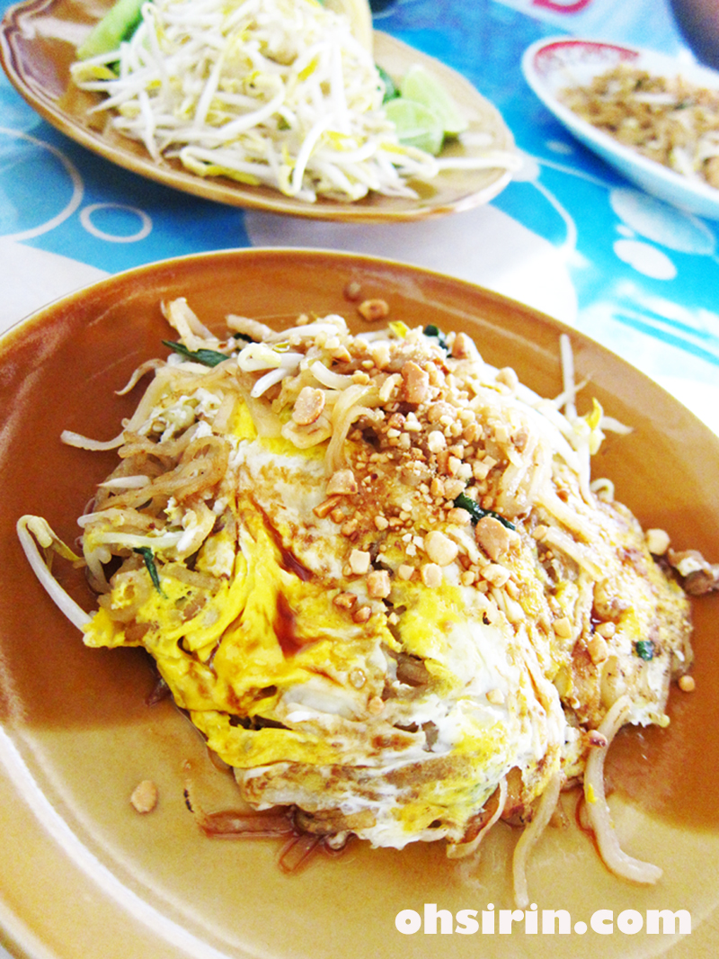 Pad Thai made on charcoal stove in old quarter of Chumporn. To-go here are still packed in banana leaves.